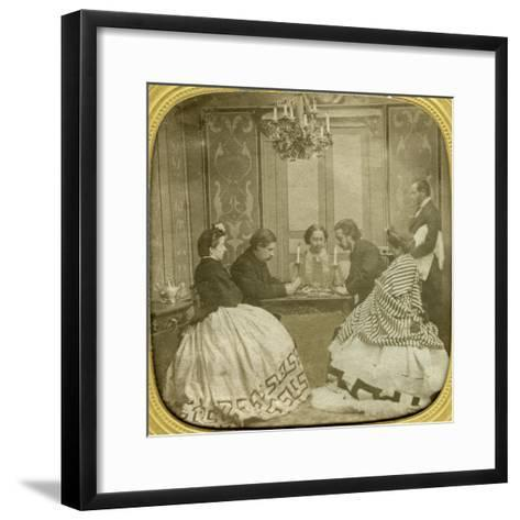 Card Game, 19th Century--Framed Art Print