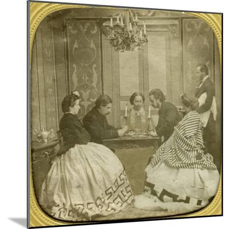Card Game, 19th Century--Mounted Giclee Print