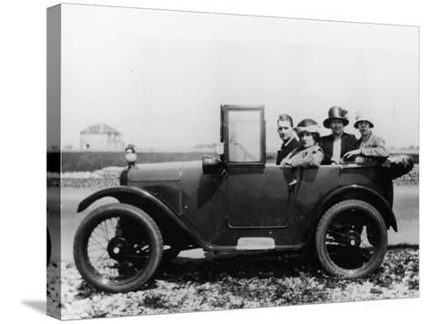 An Austin Seven Chummy with Passengers, 1925--Stretched Canvas Print