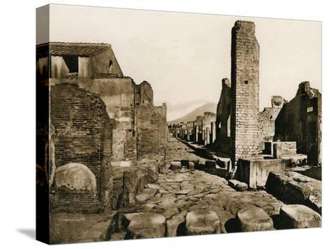 Strada Stabiana, Pompeii, Italy, C1900s--Stretched Canvas Print