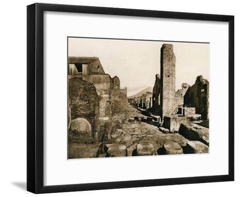 Strada Stabiana, Pompeii, Italy, C1900s--Framed Art Print