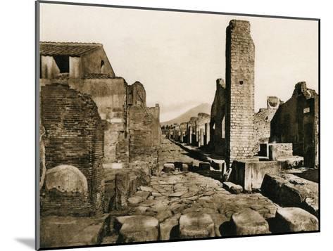 Strada Stabiana, Pompeii, Italy, C1900s--Mounted Giclee Print