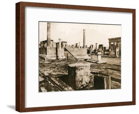 Tempio Di Giove, Pompeii, Italy, C1900s--Framed Art Print