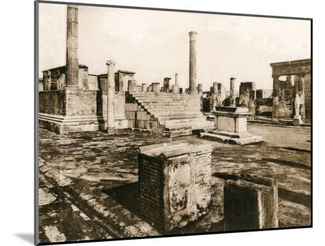 Tempio Di Giove, Pompeii, Italy, C1900s--Mounted Giclee Print