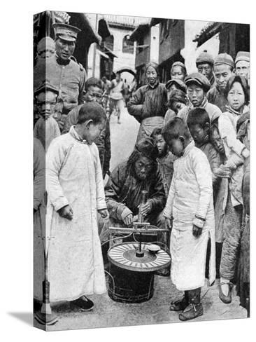 Street Gambling, China, 1922-BT Prideaux-Stretched Canvas Print