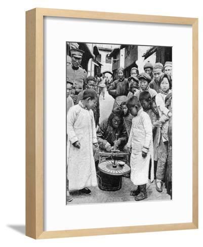 Street Gambling, China, 1922-BT Prideaux-Framed Art Print