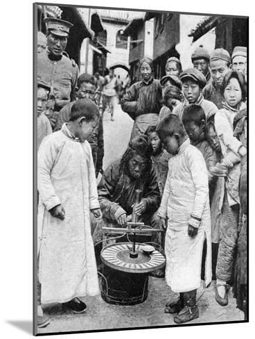 Street Gambling, China, 1922-BT Prideaux-Mounted Giclee Print