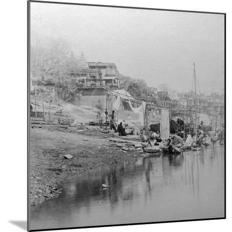 Bathing Ghat, Benares, India, Late 19th or Early 20th Century-BW Kilburn-Mounted Giclee Print