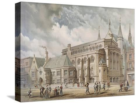 Guildhall Library, London, 1872-Edwin Thomas Dolby-Stretched Canvas Print