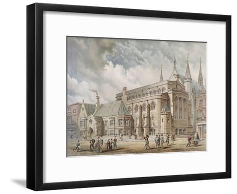 Guildhall Library, London, 1872-Edwin Thomas Dolby-Framed Art Print