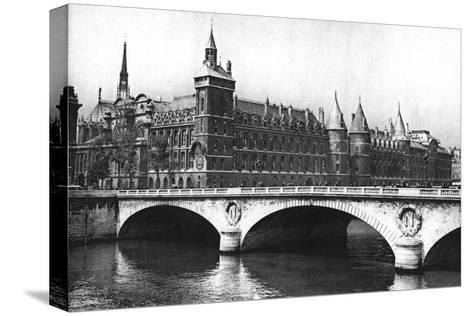 View of the Courts of Justice and the Pont Neuf from the River Seine, Paris, 1931-Ernest Flammarion-Stretched Canvas Print