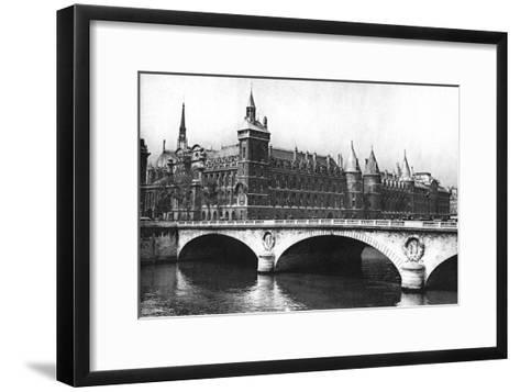 View of the Courts of Justice and the Pont Neuf from the River Seine, Paris, 1931-Ernest Flammarion-Framed Art Print