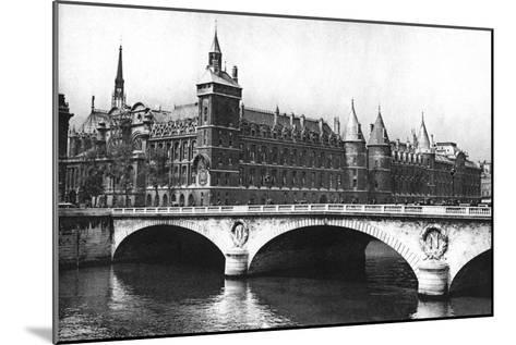 View of the Courts of Justice and the Pont Neuf from the River Seine, Paris, 1931-Ernest Flammarion-Mounted Giclee Print