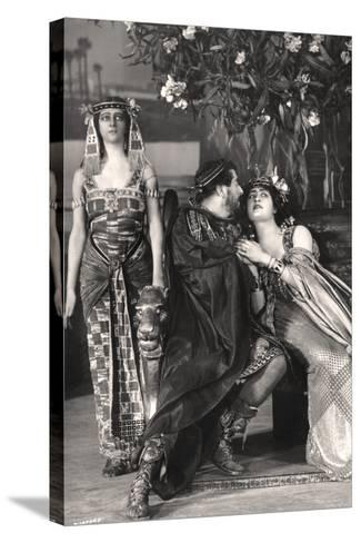 Herbert Beerbohm Tree, Constance Collier and Alice Crawford, English Actors, 1907-FW Burford-Stretched Canvas Print