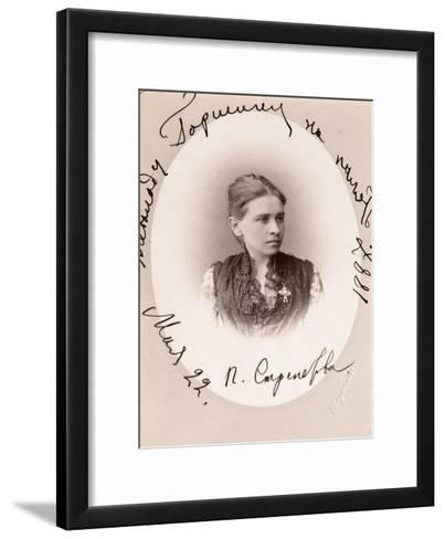 Polina Strepetova, Russian Actress, C1887-Charles Bergamasco-Framed Art Print
