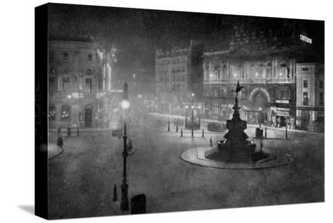 Piccadilly Circus, London, at Night, 1908-1909-Charles F Borup-Stretched Canvas Print
