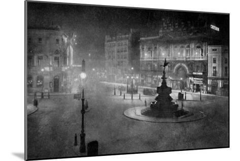 Piccadilly Circus, London, at Night, 1908-1909-Charles F Borup-Mounted Giclee Print