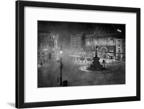 Piccadilly Circus, London, at Night, 1908-1909-Charles F Borup-Framed Art Print