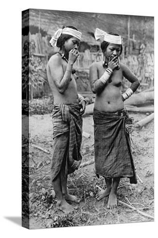 Lisum Women of Central Borneo, 1922-Charles Hose-Stretched Canvas Print