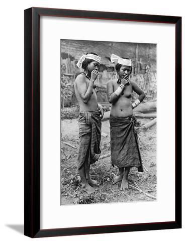 Lisum Women of Central Borneo, 1922-Charles Hose-Framed Art Print