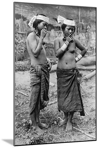 Lisum Women of Central Borneo, 1922-Charles Hose-Mounted Giclee Print