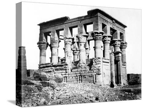Trajan's Kiosk at Philae, Nubia, Egypt, 1878-Felix Bonfils-Stretched Canvas Print