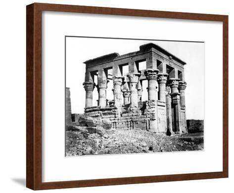 Trajan's Kiosk at Philae, Nubia, Egypt, 1878-Felix Bonfils-Framed Art Print