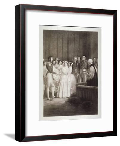 Marriage of Queen Victoria and Prince Albert, St James's Palace, Westminster, London, 1840-George Hayter-Framed Art Print