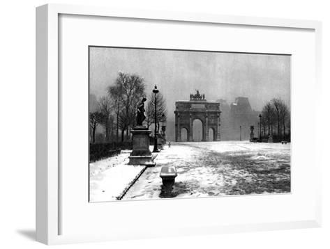 The Tuileries under Snow and the Carrousel Arch, Paris, 1931-Ernest Flammarion-Framed Art Print