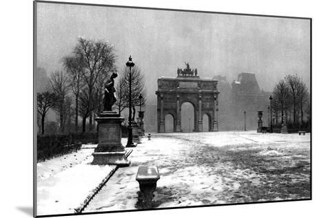 The Tuileries under Snow and the Carrousel Arch, Paris, 1931-Ernest Flammarion-Mounted Giclee Print