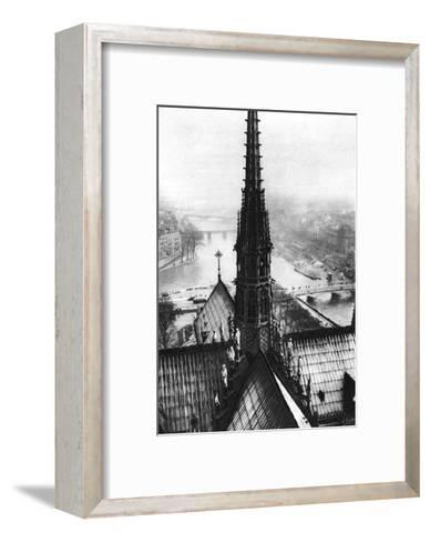 The Spire of Notre Dame Seen from the Towers, Paris, 1931-Ernest Flammarion-Framed Art Print