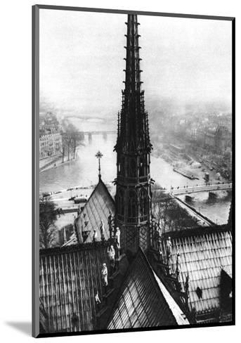 The Spire of Notre Dame Seen from the Towers, Paris, 1931-Ernest Flammarion-Mounted Giclee Print