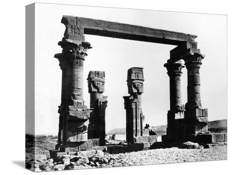 Kiosk of Qertassi, Nubia, Egypt, 1878-Felix Bonfils-Stretched Canvas Print