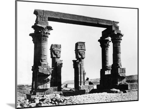 Kiosk of Qertassi, Nubia, Egypt, 1878-Felix Bonfils-Mounted Giclee Print