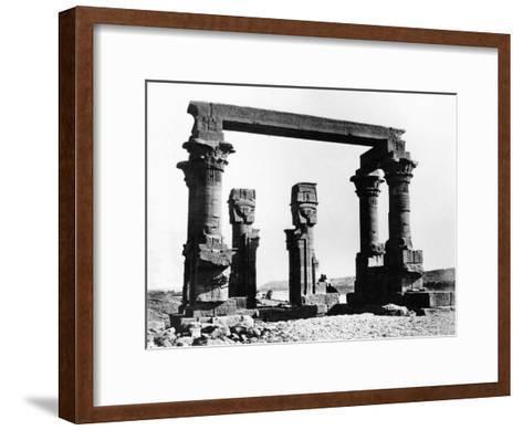 Kiosk of Qertassi, Nubia, Egypt, 1878-Felix Bonfils-Framed Art Print