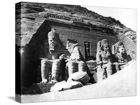 The Temple of Abu Simbel, Nubia, Egypt, 1878-Felix Bonfils-Stretched Canvas Print