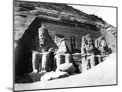 The Temple of Abu Simbel, Nubia, Egypt, 1878-Felix Bonfils-Mounted Giclee Print