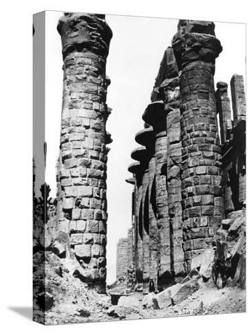 Colonnade, Hypostyle Hall, Egypt, 1878-Felix Bonfils-Stretched Canvas Print
