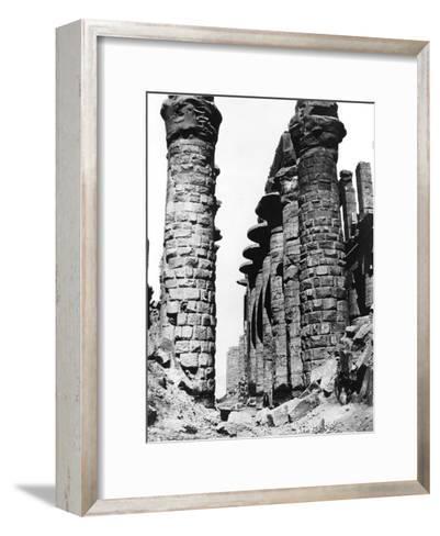 Colonnade, Hypostyle Hall, Egypt, 1878-Felix Bonfils-Framed Art Print
