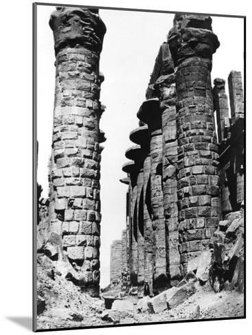 Colonnade, Hypostyle Hall, Egypt, 1878-Felix Bonfils-Mounted Giclee Print