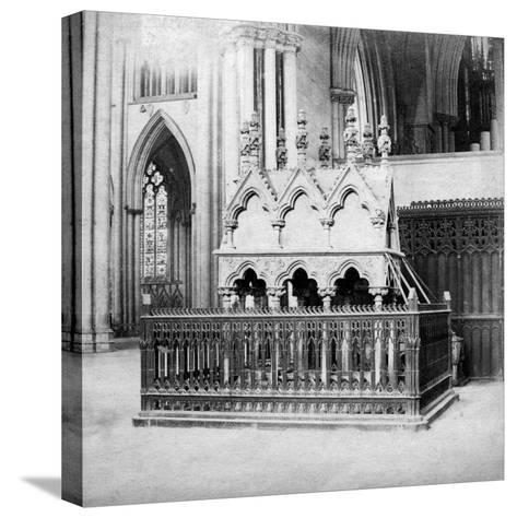 Monument of Walter De Grey, York Minster, York, North Yorkshire, Early 20th Century-George Washington Wilson-Stretched Canvas Print