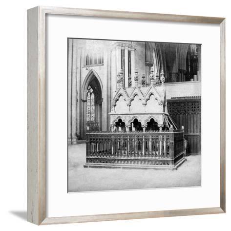 Monument of Walter De Grey, York Minster, York, North Yorkshire, Early 20th Century-George Washington Wilson-Framed Art Print