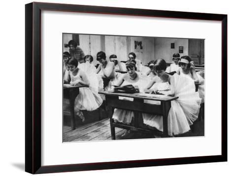 School of Young Dancing Girls at the Opera, Paris, 1931-Ernest Flammarion-Framed Art Print