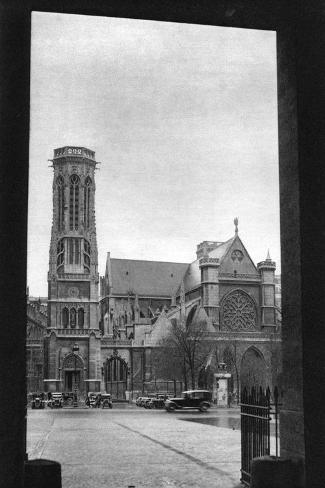 Front and Porch of St Germain L'Auxerrois, Paris, 1931-Ernest Flammarion-Stretched Canvas Print