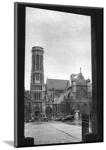 Front and Porch of St Germain L'Auxerrois, Paris, 1931-Ernest Flammarion-Mounted Giclee Print