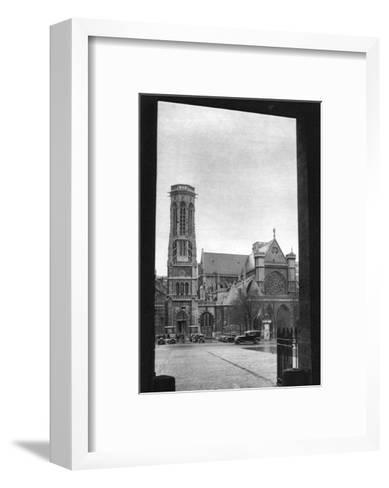 Front and Porch of St Germain L'Auxerrois, Paris, 1931-Ernest Flammarion-Framed Art Print