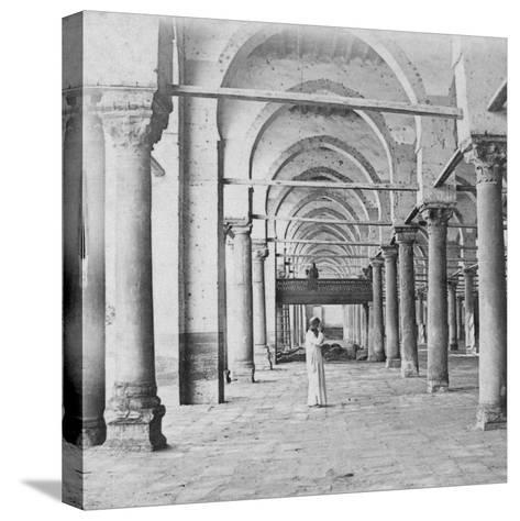 Colonnade, Cairo, Egypt, Late 19th or Early 20th Century-G Lekegian-Stretched Canvas Print