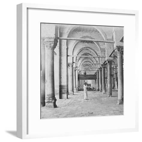 Colonnade, Cairo, Egypt, Late 19th or Early 20th Century-G Lekegian-Framed Art Print