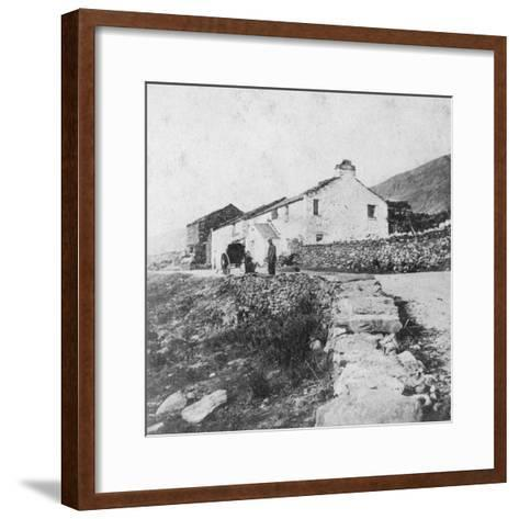 Kirkstone Pass Inn, the Lake District, Westmorland, Late 19th or Early 20th Century-G Waters-Framed Art Print