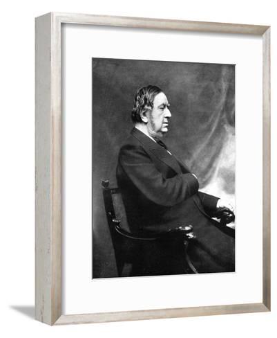 Sir William Vernon Harcourt, British Liberal Statesman, 19th Century-Elliott & Fry-Framed Art Print